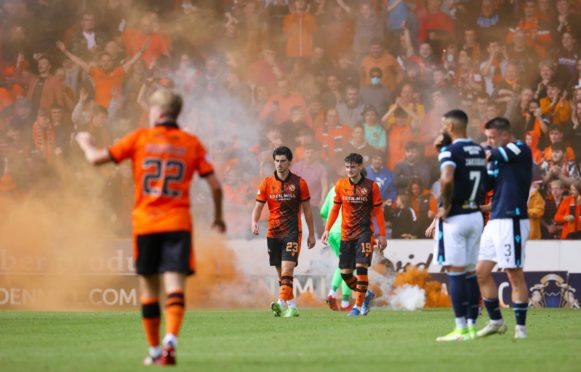 Dundee United enjoyed a 'beautiful Sunday' as they claimed a derby win
