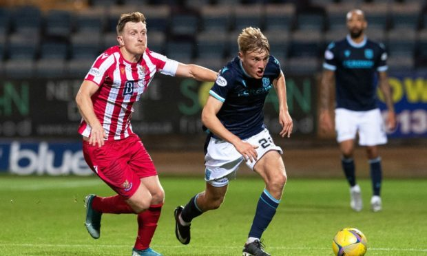 Dundee's Max Anderson and Liam Craig.