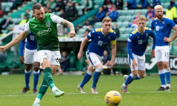 Martin Boyle scores from the spot.