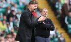 Tam Courts led his Dundee United side to a brilliant point at Celtic Park