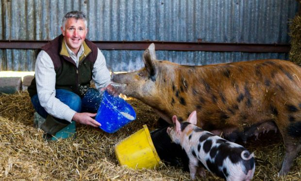 Hugh Grierson of Newmiln organic farm at Perth is a finalist in the farming category.