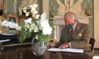 Prince Charles, Duke of Rothesay, was greeted by more than 100 guests at House of Dun, near Montrose.