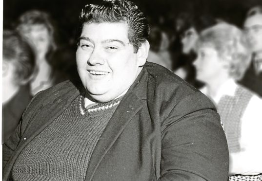 Angus before his weight loss.