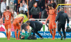 Dundee United goalkeeper Deniz Mehmet is on the mend after injuring himself in a freak accident in last season's play-offs against Dunfermline