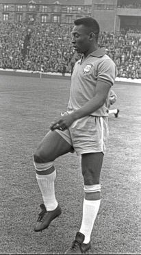 Pele, regarded by many as the greatest footballer of all time.