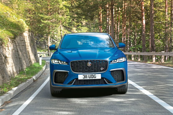 To go with story by Jack McKeown. Motoring Picture shows; Jaguar F-Pace SVR. Unknown. Supplied by Jaguar Date; 25/11/2020