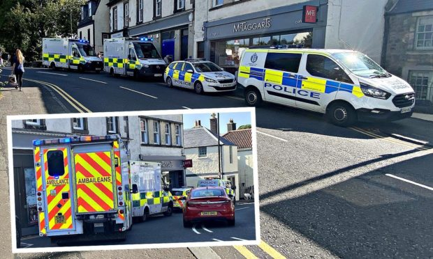 Police and paramedics were called to the scene in Aberdour.