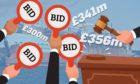 Augean bidding war to end at auction.