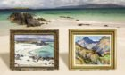 Two paintings by Dundee colourist painter John Maclauchlan Milne against one of his favourite subjects - the Isle of Iona. Supplied by Shutterstock/McTear's/Roddie Reid