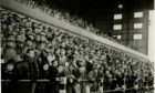 Some of the crowd at East End Park during a match against Rangers in November 1963.