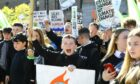 Dundee school pupils took part in a climate protest in 2019.