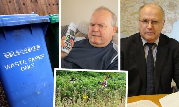 David Ross, right, has apologised for issues with bins, long grass and phones.