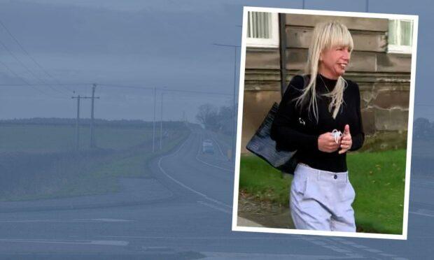 Donna Murdoch was caught on Standing Stane Road.