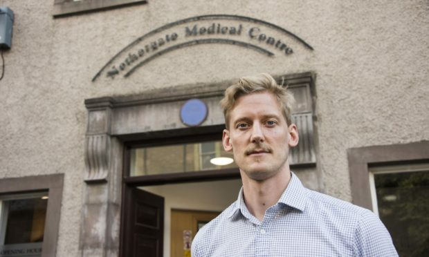 Dr Munro Stewart, who is campaigning to stop air pollution deaths in Dundee.