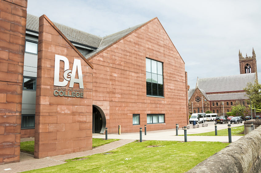 Dundee and Angus College's Arbroath campus.