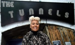 Emeli Sande at music venue The Tunnels in Aberdeen.