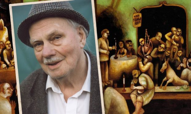Hamish Henderson, driving force behind the 1951 festival, pictured in 1999, and the cover of the later CD of the festival.