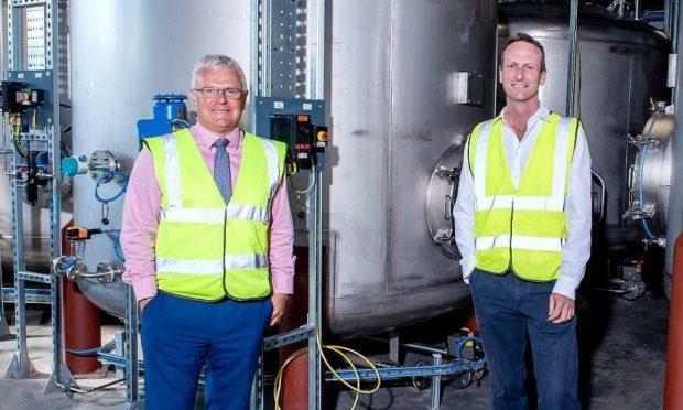 David Harris, QAS Group bottling director and Ben Carter, Edwards Engineering chief executive.