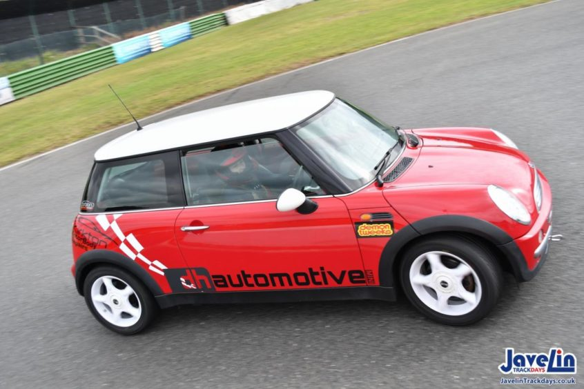 Emma Dawson's Mini, which she is training in, for the Formula Woman competition.