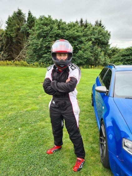 Emma Dawson in her racing gear.