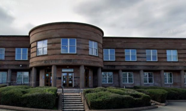 The trial is taking place at Falkirk Sheriff Court.