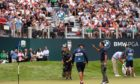 Billy Horschel celebrates victory on the final green at Wentworth.