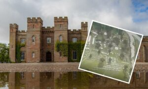 Scone Palace and (insert) an aerial view of the GWCT Scottish Game Fair