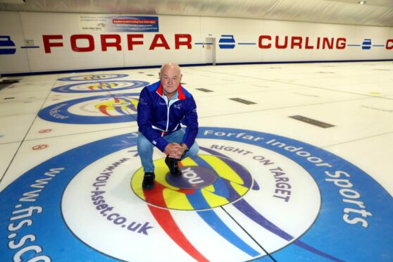 Forfar Indoor Sports owner Mike Ferguson at the rink for the weekend's opening bonspiel.