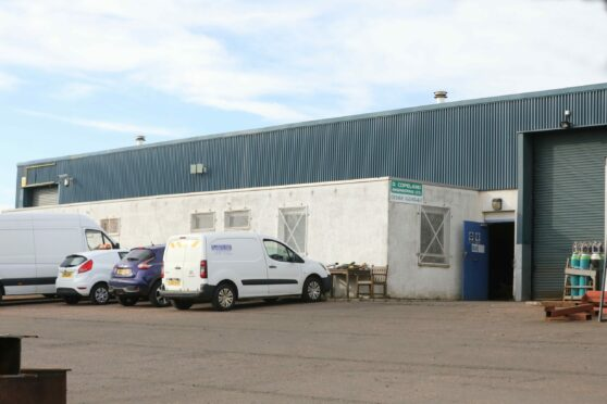 The accident happened at D Copeland Engineering in Dundee.