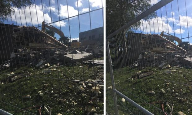 Work has started to demolish the library in Glenrothes