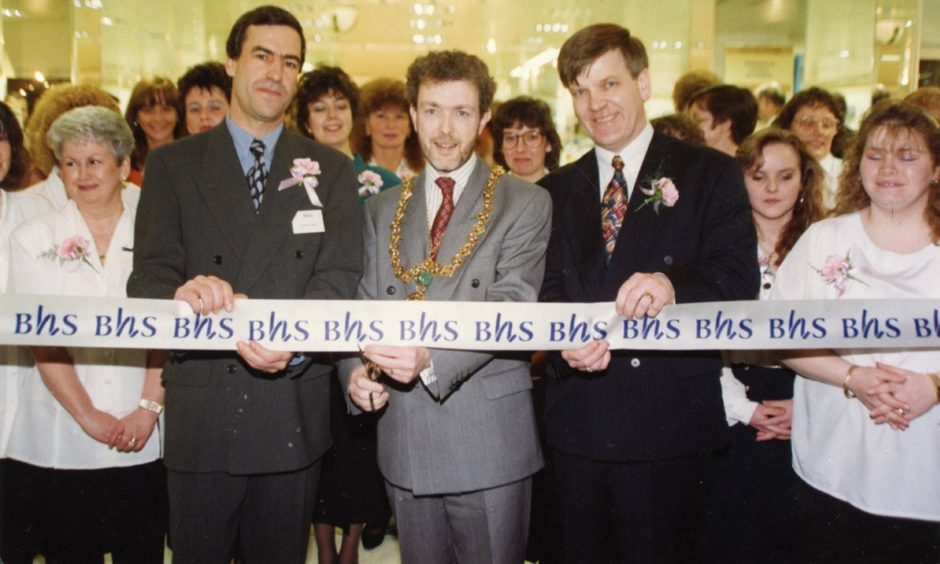 BHS' refurbished store at the Wellgate Centre, Dundee, was officially reopened by Lord Provost McDonald in 1993.
