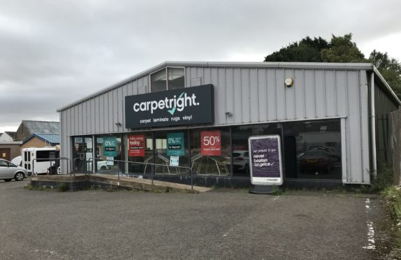 Screwfix is planning a move into the Carpetright store on Queenswell Road, Forfar. Pic: Graham Brown/DCT Media.