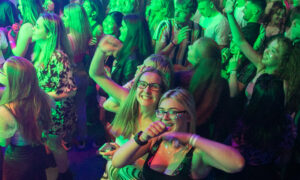 Students enjoying themselves at a DUSA freshers' event.