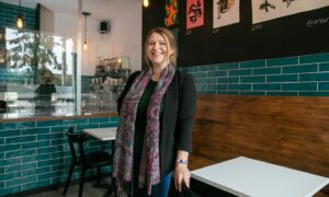 Owner Charlotte Kay at FIKA Dundee ahead of its first birthday.