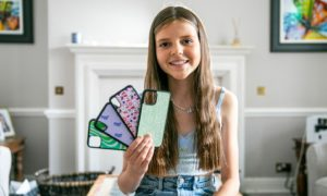 13-year-old Freya Tyson opened her shop Justencaseit after spending her savings setting up the business.