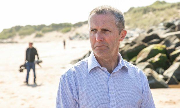 Net zero secretary Michael Matheson on Montrose Beach.