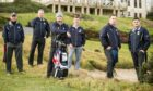 The first Caddie School for Soldiers at the Duke's Course, St Andrews in February 2019