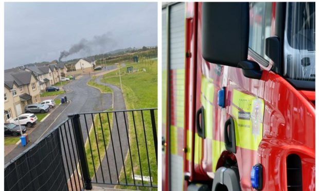 Firefighters responded to a fire on a farm near Chapel in Kirkcaldy.