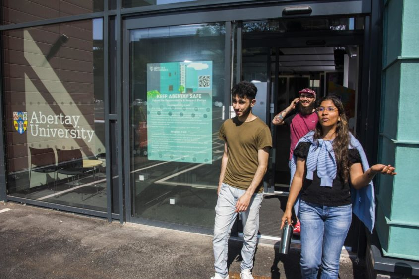 students at Dundee's Abertay University