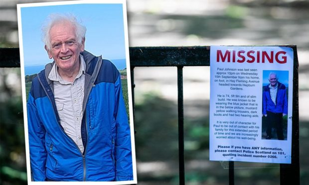 The search continues in St Andrews for the missing pensioner.