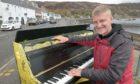 James Tofalli and his piano.