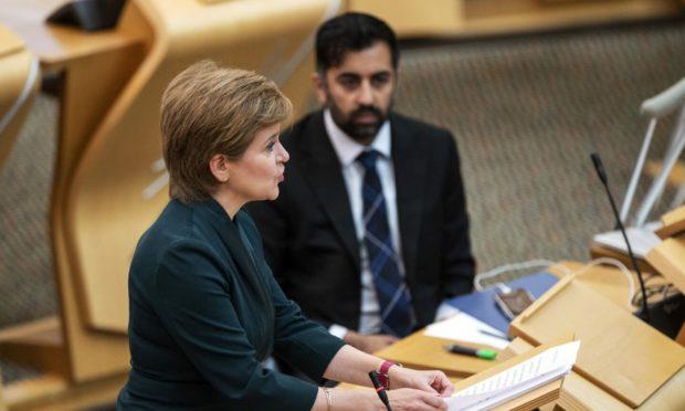 Nicola Sturgeon and Humza Yousaf.