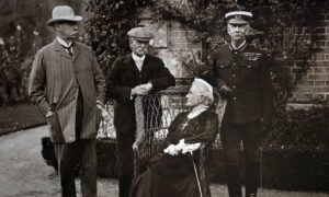 Harriet Lindsay, Lady Wantage, with three Field Marshals Lord Grenfell, Earl Roberts VC & Sir Evelyn Wood VC