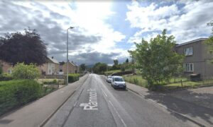 The incident occurred at a block of flats on Rannoch Road