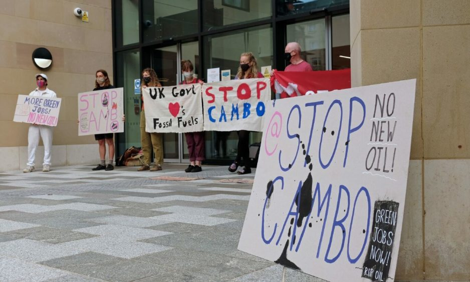 Stop Cambo campaigners