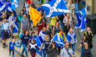 An independence march in Dundee.