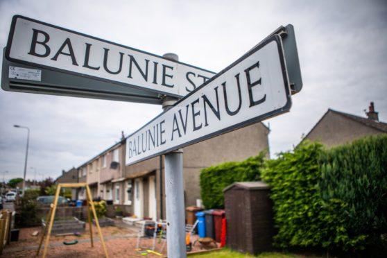 The pair were found in the flat on Balunie Street.