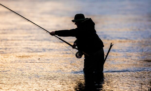 Fishing on the River Tay.