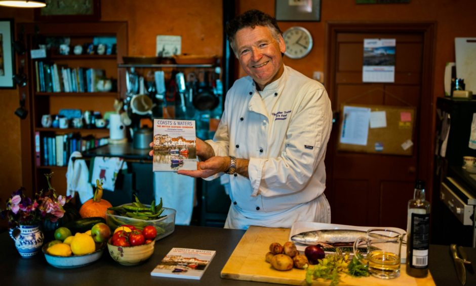 Christopher Trotter with his new cookbook, which was released today.