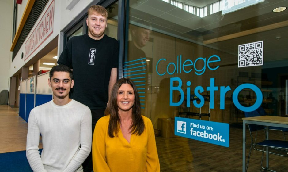 Thomas Nelson, Ryan Awdry and Nina Weryk's design has been chosen for the Kirkcaldy campus bistro.